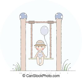 Boy on the swing