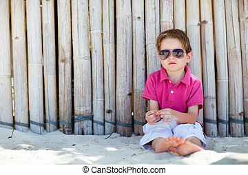 Boy on vacation