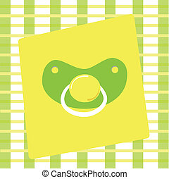 Boy or Girl Pacifier - Neutral green and yellow boy or girl...