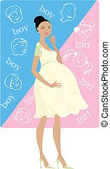 Boy or girl? - Pregnant lady guesses: boy or girl?