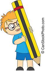 boy pencil