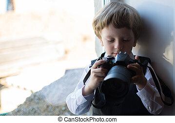 Boy photographer