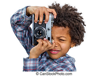 Boy photographer