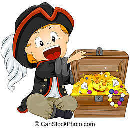 Boy Pirate with Clipping Path