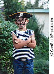 Boy pirate with glasses