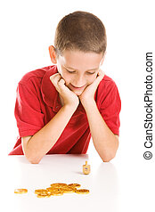 Boy Playing Dreidel