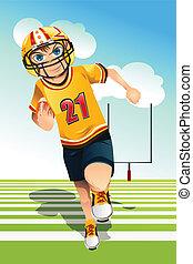 Boy playing football