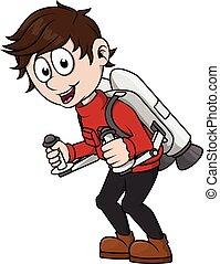 Boy playing jet pack