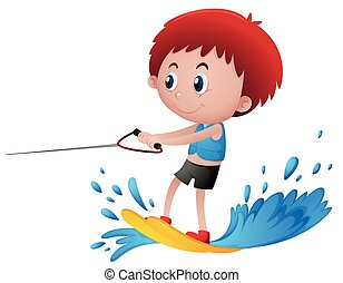 water ski illustrations and stock art 2 611 water ski rh canstockphoto com water skiing clipart santa water skiing clipart