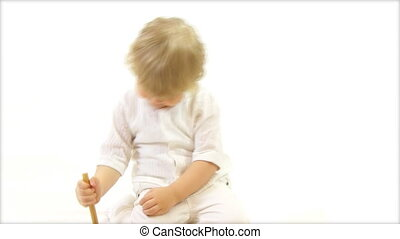 boy playing with toy