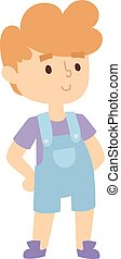 Boy portrait vector illustration. - Boy portrait fun,...
