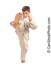 boy practicing self defense