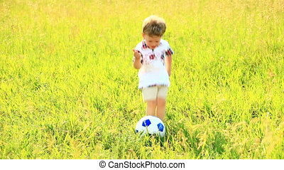 Boy preparing to get the ball into