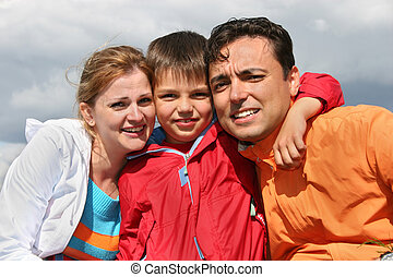 boy., rodzina, twarze