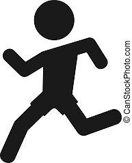 boy running flat icon