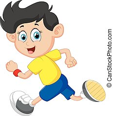boy running illustration
