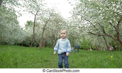 Boy Running to the Camera