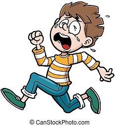 Boy running - Vector illustration of Boy running