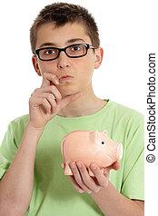 Boy savings dilemma