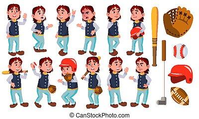 Boy Schoolboy Kid Poses Set Vector. Primary School Child....