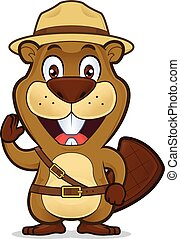 Boy scout beaver - Clipart picture of a boy scout beaver...