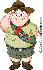 Boy scout - Happy Boy Scout saluting