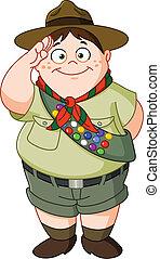 Boy scout - Happy Boy Scout saluting
