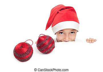 boy selebrating christmass