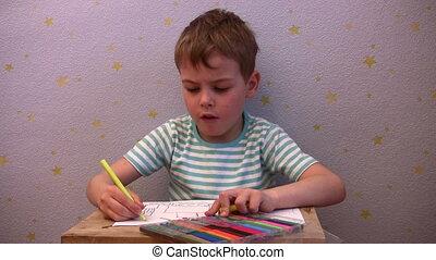 boy show drawing