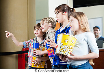 Boy Showing Something To Siblings At Box Office - Cute boy...