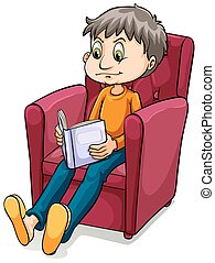 Boy sitting at the chair