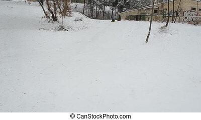 boy slide winter hill