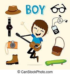 Boy Smart Cartoon Vector