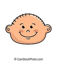 boy smiling cartoon