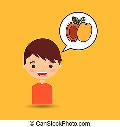 boy smiling cartoon icon design