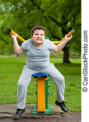 boy, sport, fat, fitness, exercise, kid, strong, trainer,...