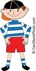 boy standing with smile - a illustration of a boy standing...
