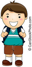 Student - Boy Student with Clipping Path