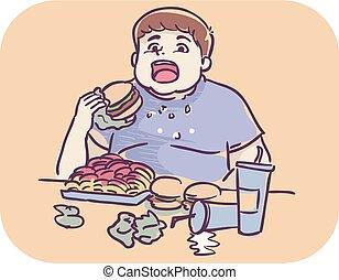 Boy Symptom Loss Control Over Amount Of Eating -...