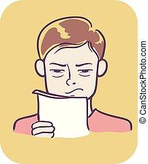 Boy symptom salty sweat illustration  Illustration of a