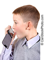 Boy talking on Cellphone