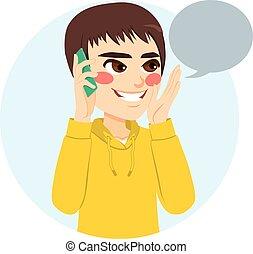 Boy Talking Phone