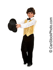 Boy Tap Dancer Strutting - A Boy Tap Dancer Struts in a...