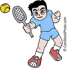 Boy tennis