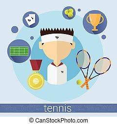 Boy Tennis Player Icon
