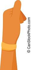 Boy thumb up icon, flat style