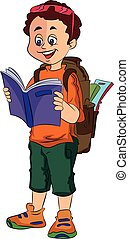 Boy Traveller, illustration - Boy Traveller, vector...