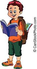 Boy Traveller, illustration - Boy Traveller, vector...