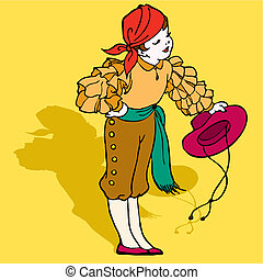 Boy typical spanish flamenco vector illustration - typical...