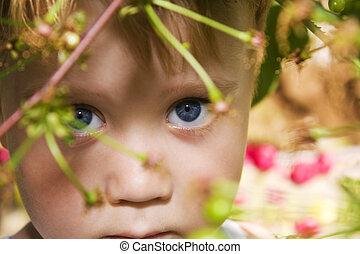 Boy under the tree